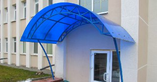Козырек из поликарбоната Зеленодольск цена от 4526 руб.